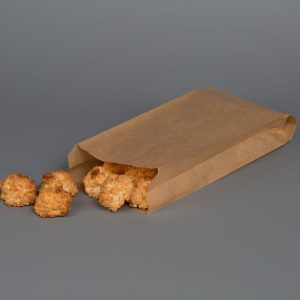 """Kraft Greaseproof Paper Bags 5x11"""" Without Window"""