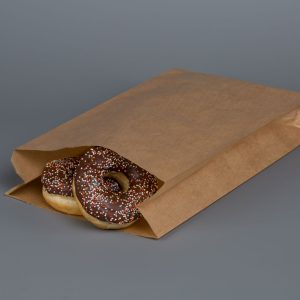 """Kraft Greaseproof Paper Bags 8x14"""" Without Window"""