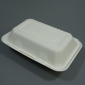 Bagasse Clamshell Food Container 7