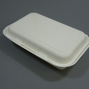 Bagasse Clamshell Food Container 9