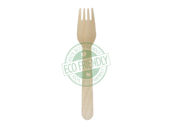 Disposable Wooden Fork Made From Birch Wood