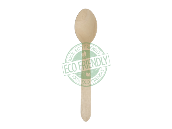 Disposable Wooden Spoon Made From Birch Wood