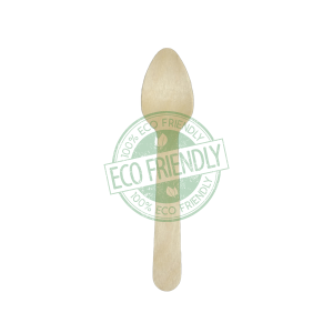 Disposable Wooden Teaspoon Made From Birch Wood