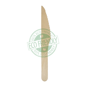 Disposable Wooden Knife Made From Birch Wood