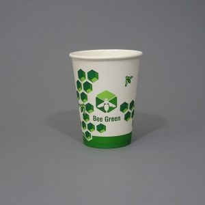 12oz BeeGreen Compostable Coffee Cup