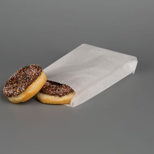 """White Greaseproof Paper Bags 5.5""""x10"""" Without Window"""