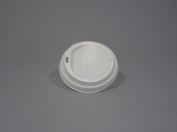 Compostable White Paper Cup Lid
