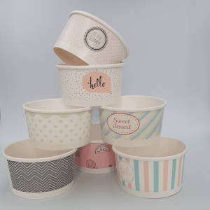 Mixed Paper Ice Cream Tubs