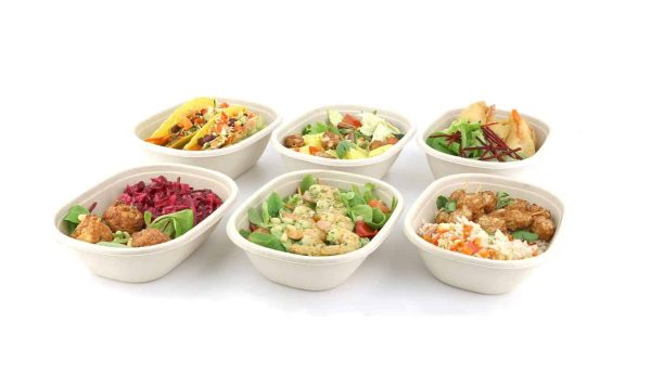 Sabert Oval Bowl With Food
