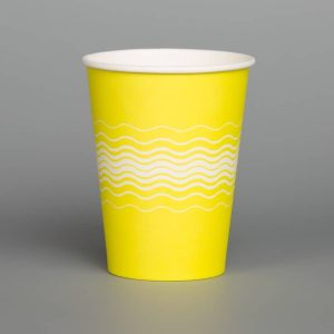 12oz Yellow Printed Paper Cup