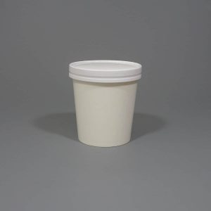White Paper Soup Cup With Lids 16oz.