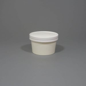 White Paper Soup Cup With Lids 8 & 12oz