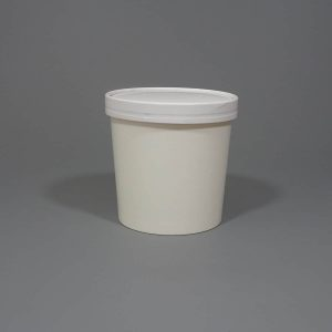 White Paper Soup Cup With Lids 24oz.