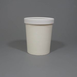 White Paper Soup Cup With Lids 32oz.