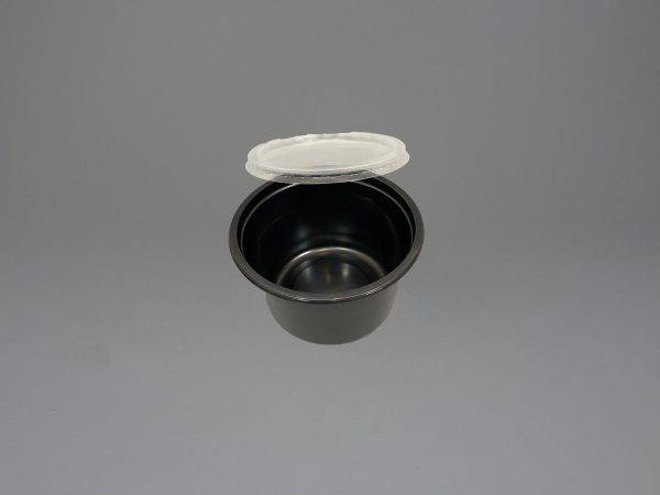 Black Plastic Food Container with Lid