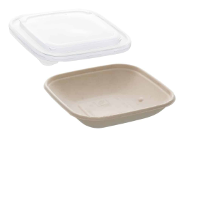 17.5oz Sabert Square Food Container with PP Lids