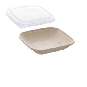 17.5oz Sabert Square Food Container with rPET Lids