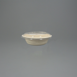 17oz GreenFeel Pulp Round Bowl with rPET Lids For Hot Food and Cold food such as salads.
