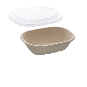 22oz Sabert Oval Food Container with rPET Lids