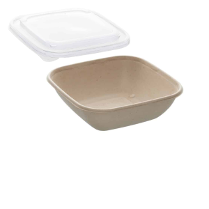 26oz Sabert Square Food Container with rPET Lids