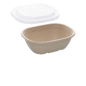 27oz Sabert Oval Food Container with rPET Lids