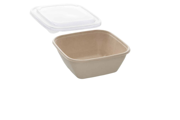 35oz Sabert Square Food Container with rPET Lids